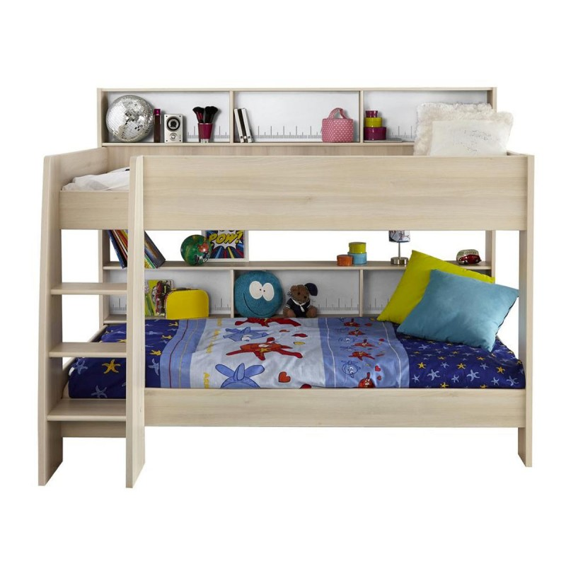 lit enfant surelev 90x200cm romeo beige. Black Bedroom Furniture Sets. Home Design Ideas