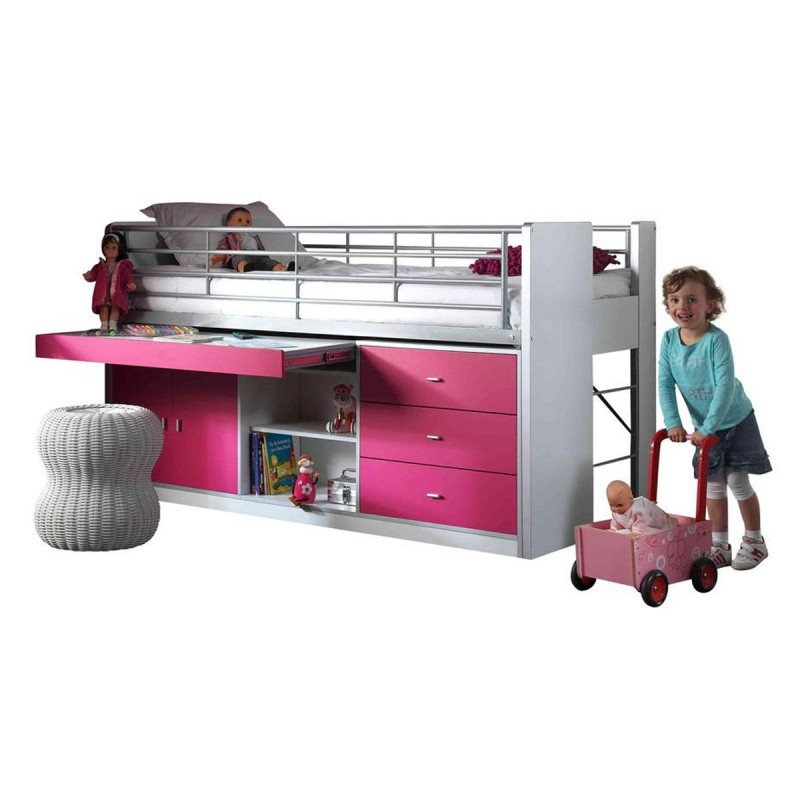 lit combin enfant bonny fuchsia. Black Bedroom Furniture Sets. Home Design Ideas