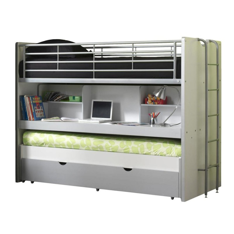 lit superpos enfant bonny gris. Black Bedroom Furniture Sets. Home Design Ideas