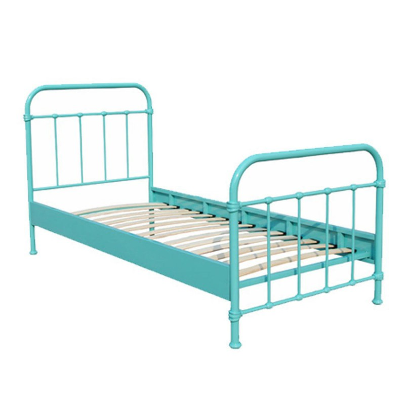 lit enfant m tal new york 90x200cm turquoise. Black Bedroom Furniture Sets. Home Design Ideas