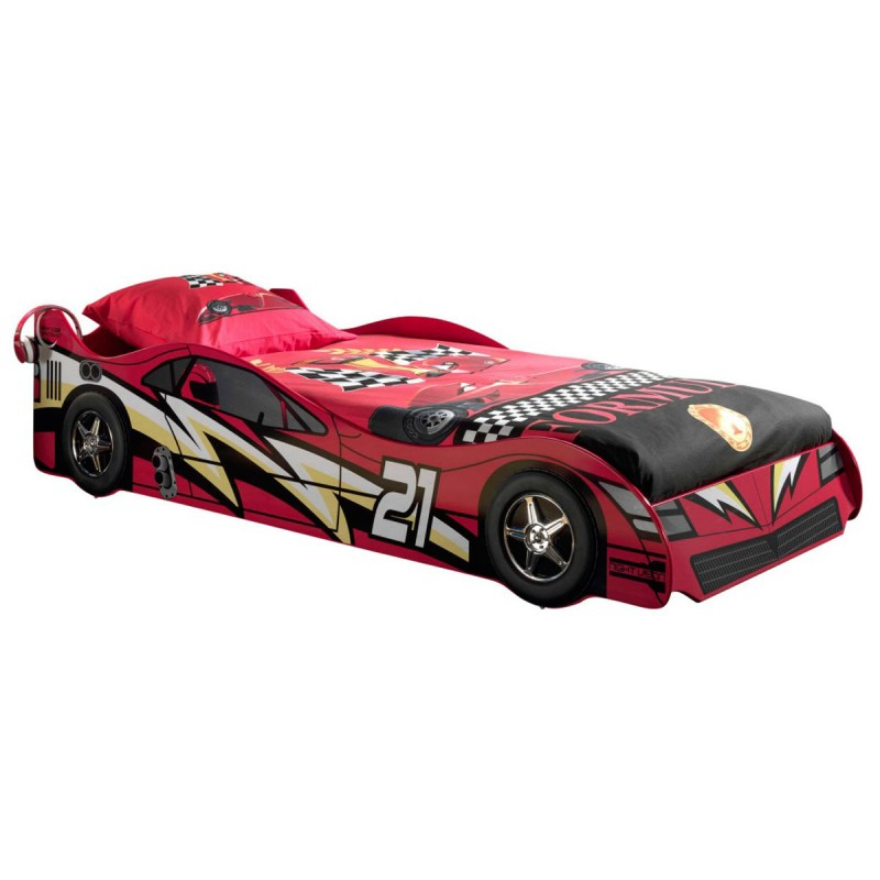 lit enfant voiture night racer n 21 rouge. Black Bedroom Furniture Sets. Home Design Ideas