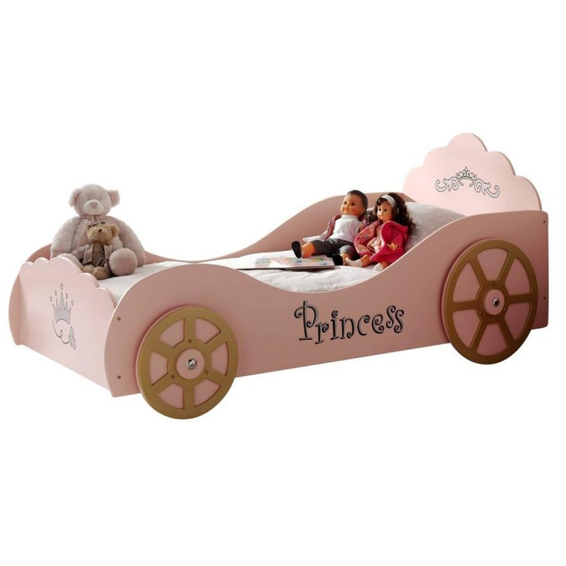 lit enfant princesse voiture rose. Black Bedroom Furniture Sets. Home Design Ideas