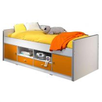 "Lit Capitaine Enfant ""Bonny"" 90x200cm Orange"
