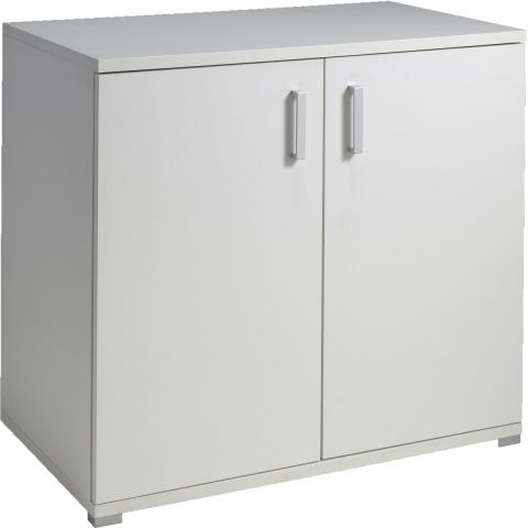 "Commode 2 Portes ""Milan"" Blanc"