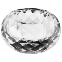"Bougeoir en Verre ""Diamant"" 7cm Transparent"