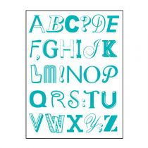 "Stickers ""Alphabet"" 50x70cm Bleu"