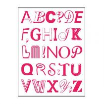"Stickers ""Alphabet"" 50x70cm Rose"