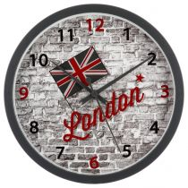 "Pendule Murale ""London"" 22cm Gris"