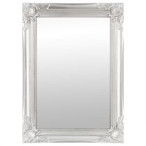 "Miroir Rectangulaire ""Moulure"" 40x55cm Gris"
