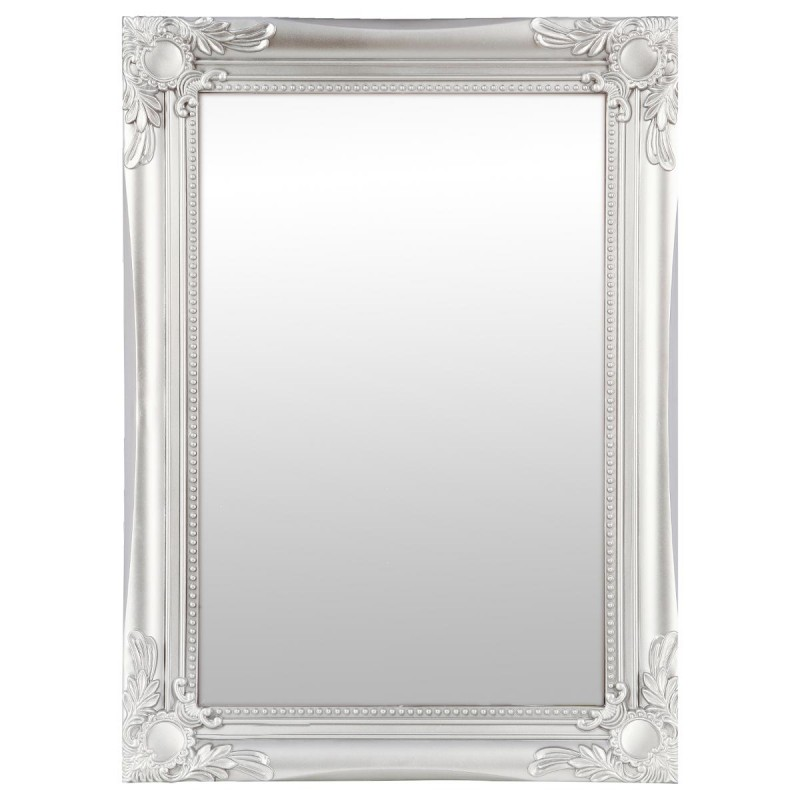 miroir rectangulaire moulure 40x55cm gris