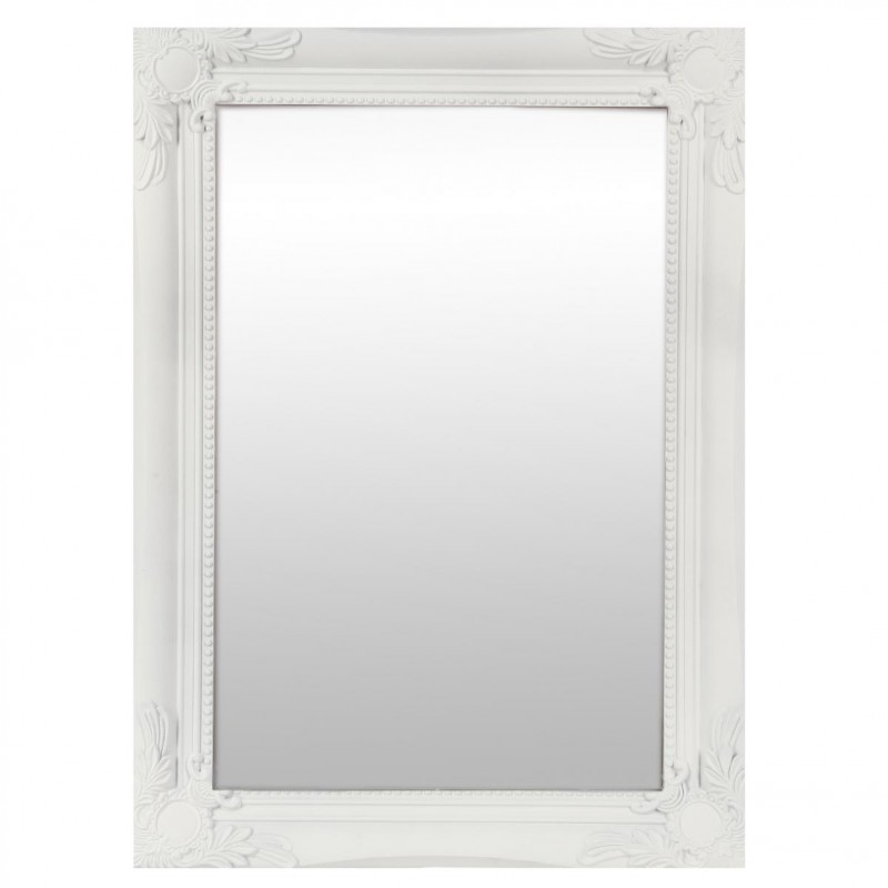 miroir rectangulaire moulure 40x55cm blanc