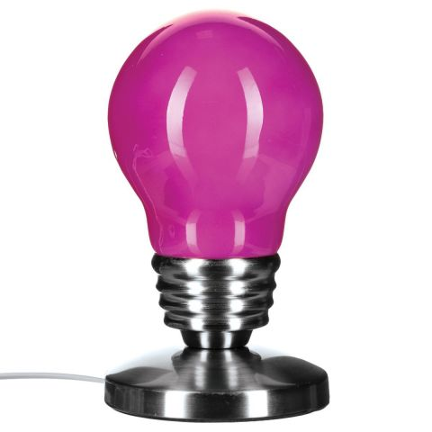 lampe poser touch ampoule 21cm fuchsia. Black Bedroom Furniture Sets. Home Design Ideas