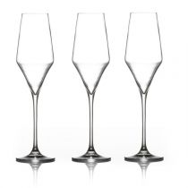 "Lot de 3 Flûtes à Champagne ""Clarillo"" 22cl Transparent"