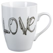 "Mug Rond ""Love"" 34cl Blanc"