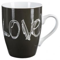 "Mug Rond ""Love"" 34cl Gris"