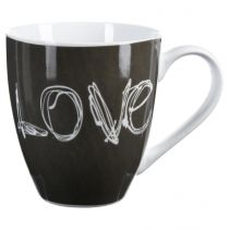 "Mug Rond ""Love"" 51cl Gris"