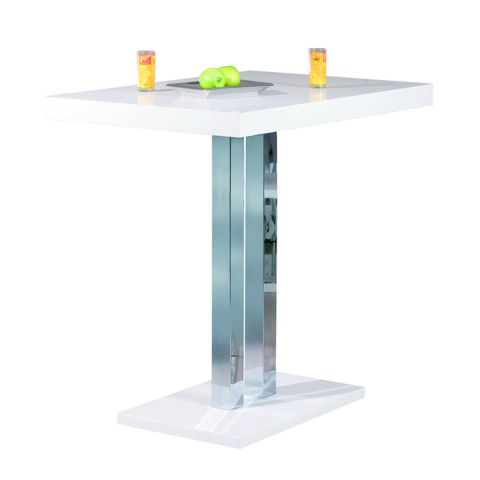"Table de Bar ""Steam"" Blanc"