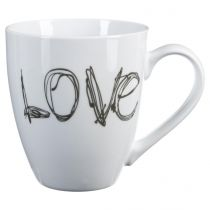 "Mug Rond ""Love"" 51cl Blanc"