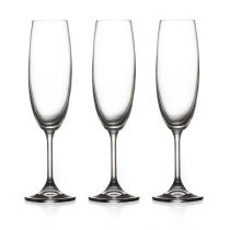 "Lot de 3 Flûtes à Champagne ""Tana"" 22cl Transparent"