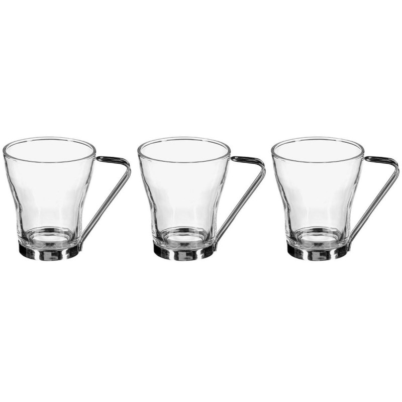 lot de 3 tasses en verre 23cl transparent. Black Bedroom Furniture Sets. Home Design Ideas