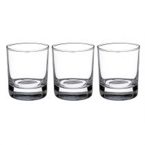 "Lot de 3 Verres à Whisky ""New Side"" 30,5cl Transparent"