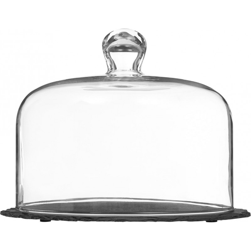 cloche fromage ardoise 25cm transparent. Black Bedroom Furniture Sets. Home Design Ideas