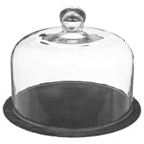 "Cloche à Fromage ""Ardoise"" 25cm Transparent"