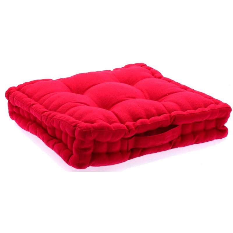 coussin de sol framboise 40x40 cm. Black Bedroom Furniture Sets. Home Design Ideas