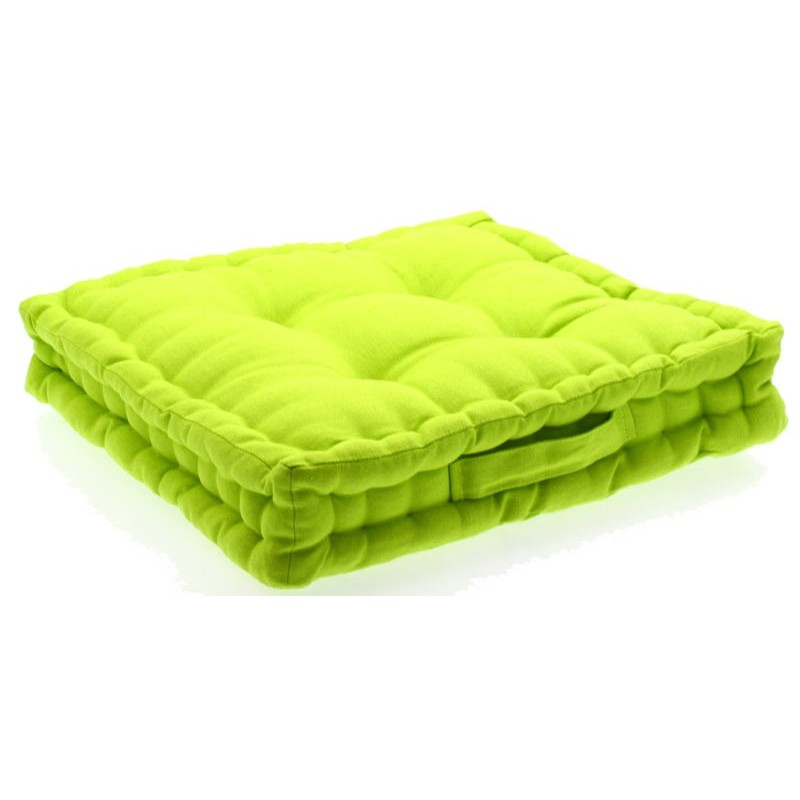 coussin de sol vert anis 40x40 cm. Black Bedroom Furniture Sets. Home Design Ideas