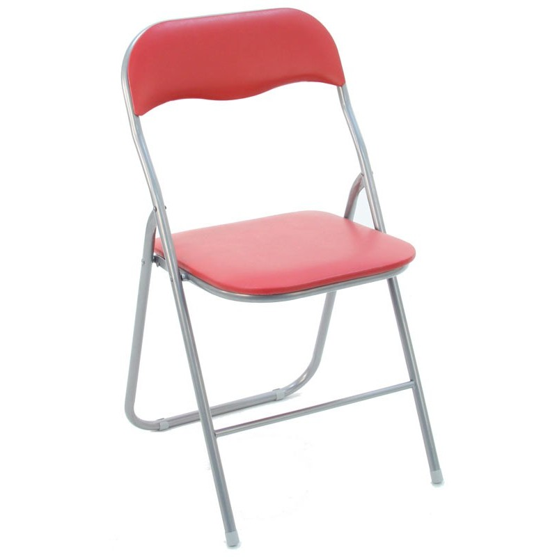 Lot de 4 chaises pliantes basic rouge for Lot 4 chaises