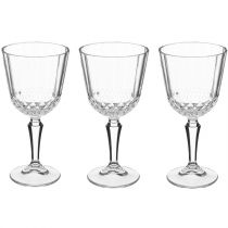 "Lot de 3 Verres à Vin ""Diony"" 23cl Transparent"
