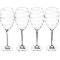 "Lot de 4 Verres à Vin ""Nera II"" 39cl Transparent"
