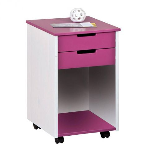 caisson de bureau 2 tiroirs kids fuchsia. Black Bedroom Furniture Sets. Home Design Ideas