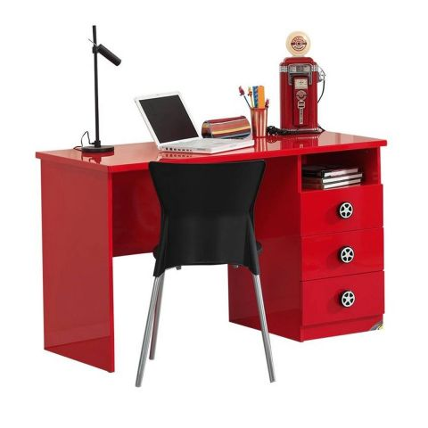 bureau enfant voiture monza rouge. Black Bedroom Furniture Sets. Home Design Ideas