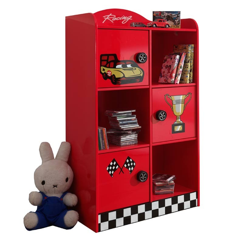 armoire enfant race rouge. Black Bedroom Furniture Sets. Home Design Ideas