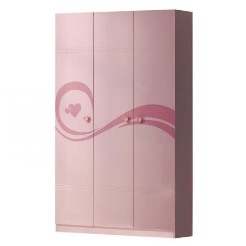 "Armoire 3 Portes ""Lizzy"" Rose"