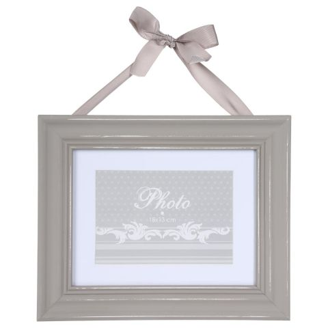 "Cadre Photo ""Ruban"" Rectangulaire 29x24cm Taupe"