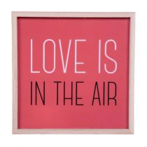 "Cadre Lumineux Carré ""Love is in the Air"" Rouge"
