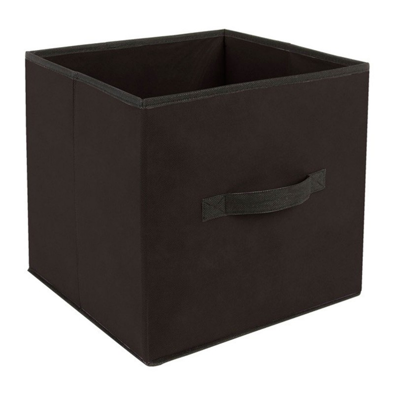 bo te de rangement 31x31cm noir. Black Bedroom Furniture Sets. Home Design Ideas