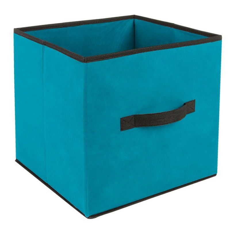 boite de rangement pliable basic 31x31cm turquoise. Black Bedroom Furniture Sets. Home Design Ideas