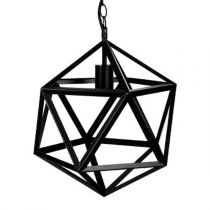 "Lampe Suspension Métal ""Rubik"" 40cm Noir"