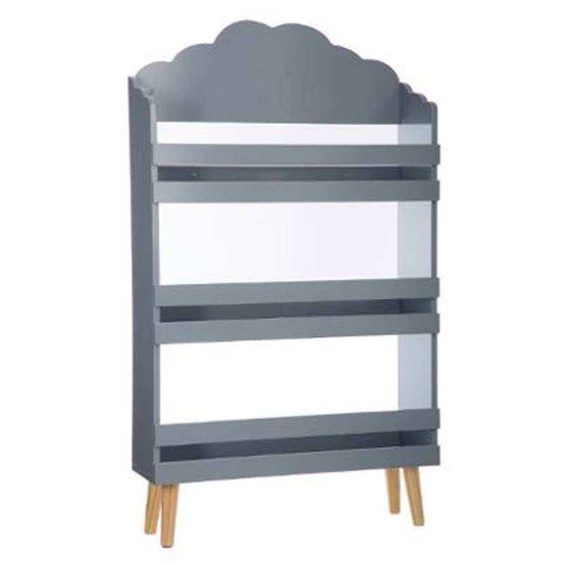 biblioth que 3 niveaux nuage 100cm gris. Black Bedroom Furniture Sets. Home Design Ideas