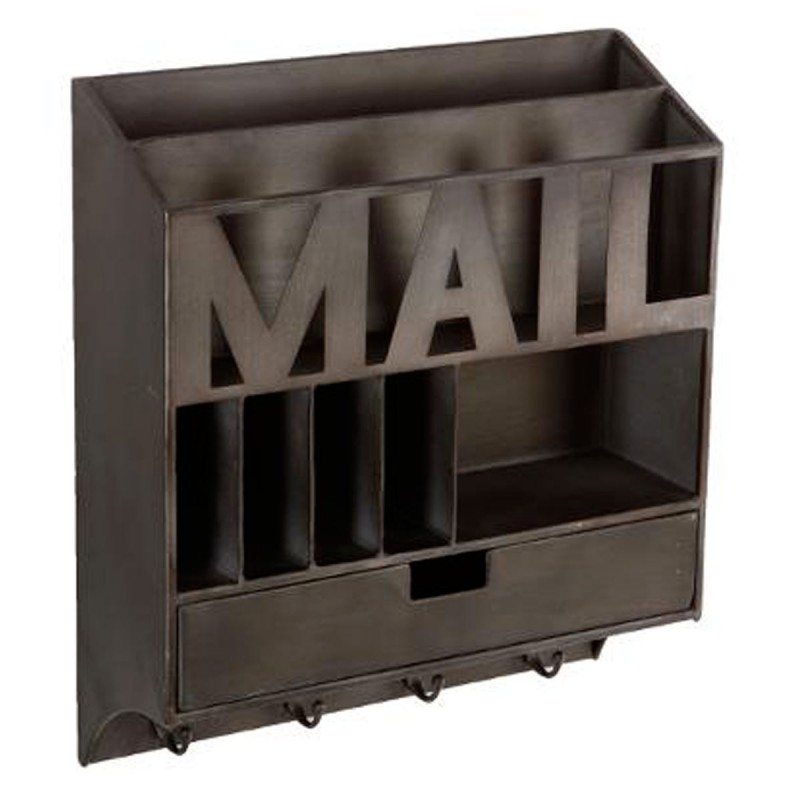 "Porte-Courrier Mural ""District 9"" 46Cm Marron"