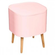 "Table d'Appoint Design ""Zaël"" 43cm Rose"