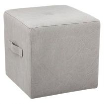 "Pouf ""District 9"" 38cm Gris Clair"