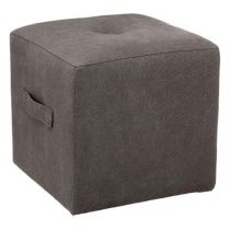 "Pouf ""District 9"" 38cm Gris Foncé"