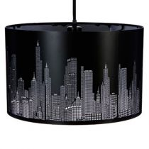 "Lampe Suspension ""New York"" 39cm Noir"