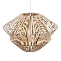 "Lampe Suspension ""Rotin"" 45cm Beige"