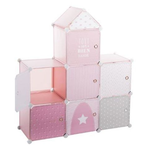 bo tes de rangement ch teau 111cm rose. Black Bedroom Furniture Sets. Home Design Ideas