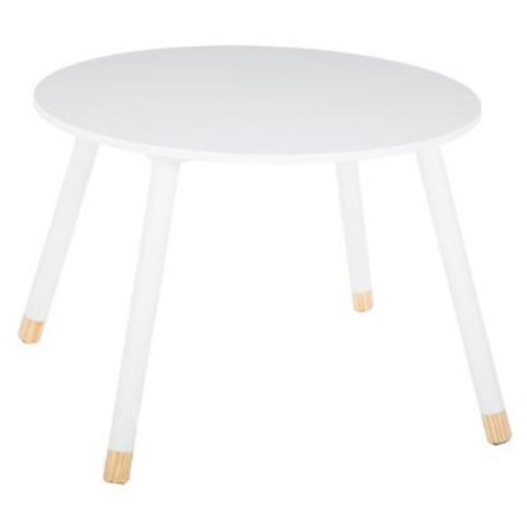 "Table d'Appoint Design Enfant ""Douceur"" 60cm Blanc"